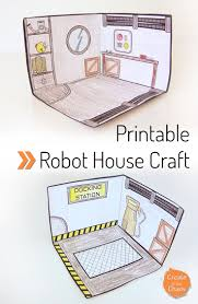 printable robot house create in the chaos