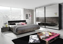 Schlafzimmer Eiche Braun Schlafzimmer Bett 180 X 200 Cm Schwarz Vintage Optik Braun Rauch
