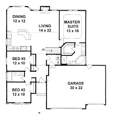 house plans com traditional style house plan 3 beds 2 baths 1461 sq ft plan 58
