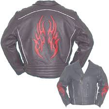 red motorcycle jacket men u0027s black traditional style motorcycle jacket with red flame