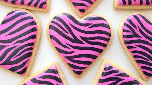 how to decorate zebra print cookies youtube