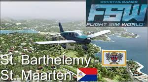 flight sim world st barthelemy tffj st maarten tncm