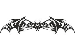 angry bat tribal tattoo design tattooshunter com