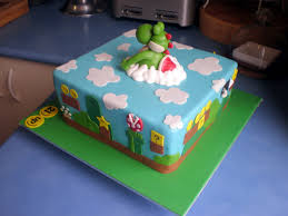 mario cakes sugar siren cakes mackay yoshi mario brothers cake