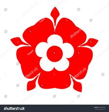 tudor rose tudor rose symbol lancashire stock vector 185482583