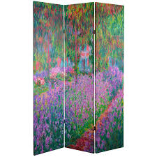 Plant Room Divider 6 Ft Tall Works Of Monet Canvas Room Divider Water Lily Garden