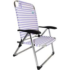 High Beach Chairs Strand High Back Beach Chair Blue White Stripe By Strand Imports