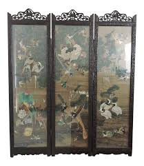 Oriental Room Dividers by Antique Three Panel Oriental Screen Room Divider Antiques