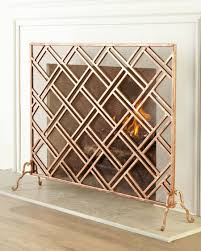 modern brass fireplace screen med art home design posters