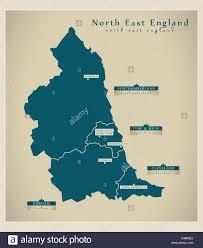 map of east uk modern map east uk stock vector illustration