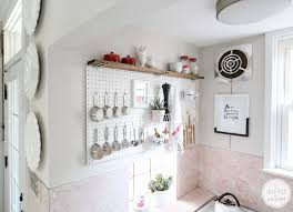 pegboard kitchen ideas kitchen pegboard storage 18 storage ideas for small spaces bob