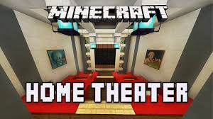 minecraft tutorial how to build a modern house ep 9 home theater