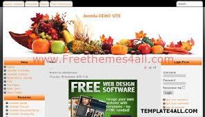free restaurant recipes joomla theme template download