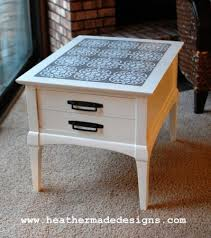 side table paint ideas thrift store side table before and after
