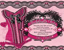 Lingerie Party Invitations Burlesque Invite