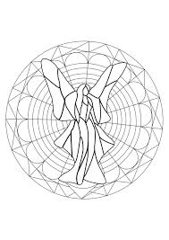 fairy mandala mandalas coloring pages for adults justcolor