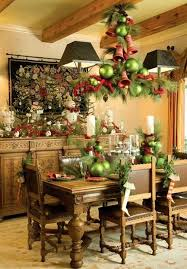 christmas decorations for dining room table tartan christmas