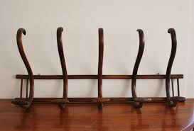 antique large wall mounted bentwood coat rack entries
