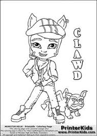 monster high chibi coloring pages monster high clawdeen wolf super coloring 2 color monster high