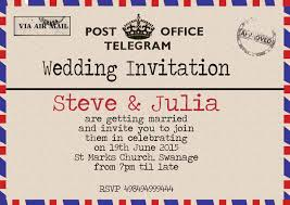telegram wedding invitation vintage telegram wedding invitations