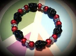 halloween glass beads halloween bracelets create peace and love