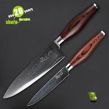 haoye 2 pcs damascus kitchen knives set chef knife utility knife