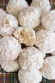 chai spiced snowballs