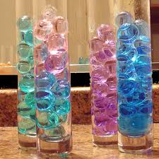 sweet 16 table decorations decorar vasijas con piedras y gemas picture holders water beads