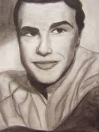 drawn portrait celebrity pencil and in color drawn portrait