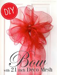 ribbon bow party ideas by mardi gras outlet a large bow with deco mesh