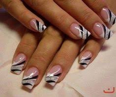 nails design galerie nail in silver black and white nail