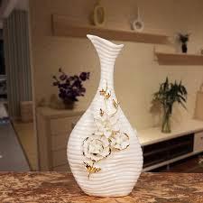 porcelain abstract neck vase ornamental ceramics flask