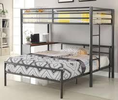 T Shaped Bunk Bed Metal Workstation Affordable Youth Furniture