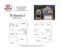 Kitchen Floor Plans With Island And Walk In Pantry by Nantucket Ii Colonial Design Little Mountain Homes
