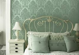 diy vintage style ideas with the antoinette damask stencils