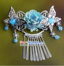 traditional handmade butterfly and flower hair accessories
