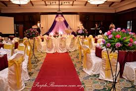 wedding backdrop kl wedding decoration at the saujana hotel kuala lumpur purple
