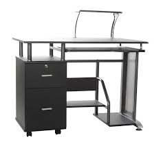 Metal Computer Desk With Hutch by Amazon Com Comfort Products Rothmin Computer Desk With Storage