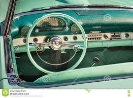 1955 ford thunderbird dashboard editorial stock photo image