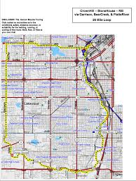 Route 95 Map by Denver Bicycle Touring Club Inc Route Map Library