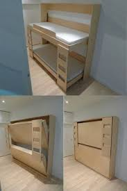 Wooden Bunk Bed Plans by Stacked Twin Murphy Bed Ana White The Basement Project