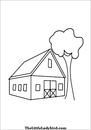 free houses coloring pages thelittleladybird com