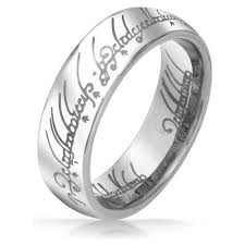 rings silver bands images Lord of the rings silver tungsten 6mm jpg
