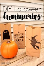 halloween paper bag luminaries here comes the sun