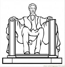 lincoln coloring pages lincoln memorial coloring page free politics coloring pages