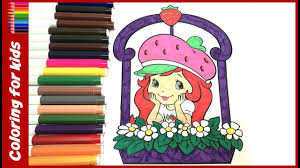 colouring pages for kids how to color strawberry shortcake