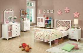 kids beds juliette metal platform bed white pink coa 300344t f