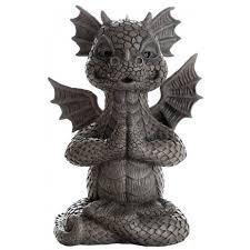 garden dragon yoga statue 10 inch resin dragon statue