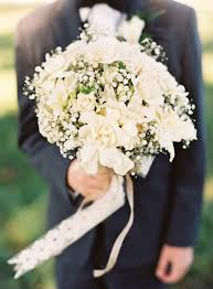 Baby S Breath Bouquets Ashley U0026 Peter Classic Wedding With Baby U0027s Breath And Toile