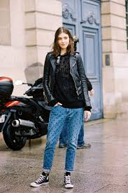 Skinny Jeans And Converse Street Style How To Wear High Top Sneakers Shemazing